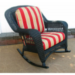 Palm Springs Resin Wicker Rockers  - BLACK