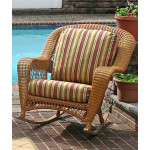 Palm Springs Resin Wicker Rockers  - GOLDEN HONEY
