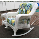 Palm Springs Resin Wicker Rockers  - WHITE