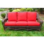 Palm Springs Resin Outdoor Wicker Sofa  - ANTIQUE BROWN