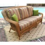 Palm Springs Resin Outdoor Wicker Sofa  - GOLDEN HONEY