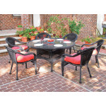"Resin Wicker Dining Set 60"" Round - BLACK"