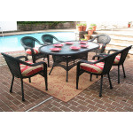 "Resin Wicker Dining Set 72""' Oval - BLACK"