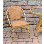 Resin Wicker Cafe Dining Chairs - Golden Honey