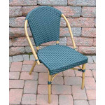 Resin Wicker Cafe Dining Chairs - Hunter Green