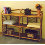 Wicker Book Case,Tea Wash & Wide -