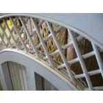 Pavilion Full Queen Wicker Headboard - REAR LATTICE VIEW
