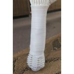 Belair Resin Wicker Glider Loveseat  - WOVEN LEG DESIGN
