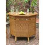 Resin Wicker Bar in 4 colors - GOLDEN HONEY