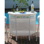 Resin Wicker Bar in 4 colors - WHITE