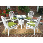 "Natural Rattan Dining Sets, Savannah 36"" Round - WHITE"