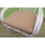 """Natural Rattan Dining Set 36"""" Savannah (3 frame colors) - SP-803 FABRIC"""