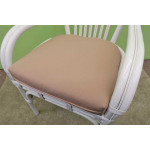 "Natural Rattan Oval Dining Set Savannah 72"" Oval (White or Brown) - SP-803 FABRIC"
