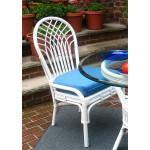 Savannah Rattan Dining Side Chair (3 colors) - WHITE