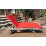 Siesta Wicker Chaise with Adjustable Back and Cushion - DRIFTWOOD-SIDE VIEW