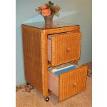 2-Drawer Wicker File Cabinet, Caramel - CARAMEL