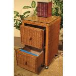 2-Drawer Wicker File Cabinet, Tea Wash - TEAWASH