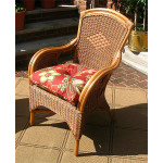 Santa Fe Rattan Framed Natural Wicker Chairs - TEAWASH