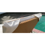 Siesta Wicker Chaise with Adjustable Back and Cushion - CUSHION CORNER ENVELOPE