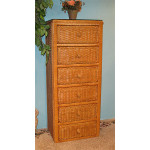 Traditional Wicker Lingerie Chest - CARAMEL