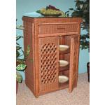 Single Lattice Wicker Cabinet - TEAWASH