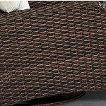 St Croix All Weather Outdoor Resin Wicker Loveseat - TOBACCO FRAME FINISH