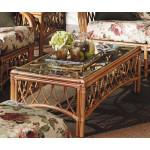 Antiqua Natural Rattan Coffee Table  - WALNUT