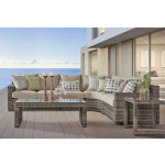 4 Piece Resin Wicker Modular Sectional, + 2 Tables, Biscayne Bay - SANDSTONE FINISH