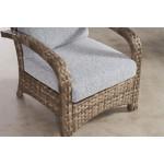 Carmel All Weather Outdoor Resin Wicker Lounge Chair - SANDALWOOD