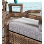 Carmel All Weather Outdoor Resin Wicker Lounge Chair -