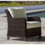 Canyon Lake Resin Wicker Lounge Chair  - DARK BROWN