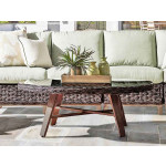 Canyon Lake Resin Wicker Oval Cocktail Table (Not Sold Alone) - DARK BROWN