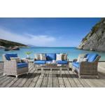 Canyon Lake 5 Piece All Weather Resin Wicker  Furniture Set, Canyon Lake. No Ottoman - GRANITE