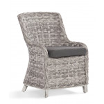 Canyon Lake Resin Wicker Dining Side Chair  - GRANITE