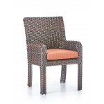 St. Croix All Weather Outdoor Resin Wicker Dining Arm Chair - TOBACCO
