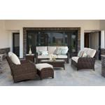 6 Piece Resin Wicker Furniture Set, St Croix - TOBACCO