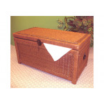 Wicker Trunks or Chests, Small Woodlined Tea Wash -