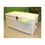 Wicker Trunks or Chests, Small Woodlined White -
