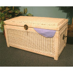 Woodlined Wicker Chest (Small) - WHITEWASH