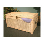 Wicker Trunks or Chests, Small Woodlined WhiteWash -