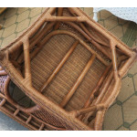 """5 Piece Tangiers Natural Wicker Dining Set, 48"""" Round  - CHAIR BOTTOM"""