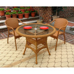 "Resin WIcker Dining Set 36"" Round, - GOLDEN HONEY"