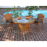 "Resin Wicker Dining Set. 36"" Round,  5 colors - GOLDEN HONEY"