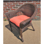 Veranda Resin Wicker Chair With Cushion - ANTIQUE BROWN