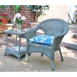 Veranda Resin Wicker Chair With Cushion - DRIFTWOOD