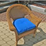 Veranda Resin Wicker Chair With Cushion - GOLDEN HONEY
