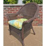 Veranda High Back Resin Wicker Chair  - ANTIQUE BROWN