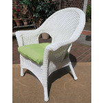 Veranda High Back Resin Wicker Chair  - WHITE
