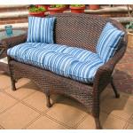 Veranda Resin Wicker Loveseat With Seat Cushion - ANTIQUE BROWN
