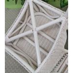 Vineyard Natural Wicker Chair, White - BOTTOM